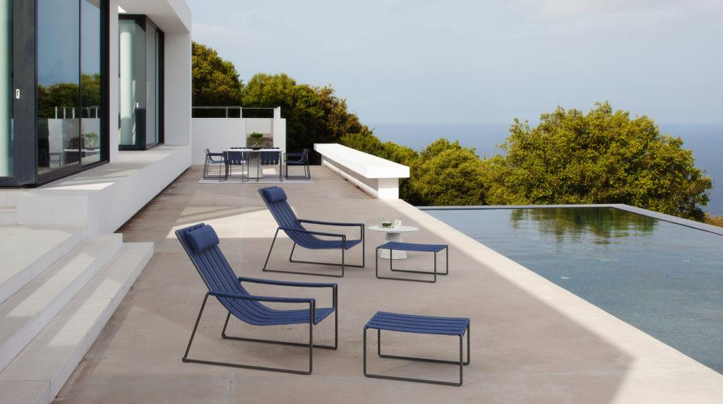 luxury outdoor footstool